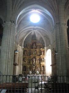 Bóveda de la capilla mayor de la iglesia monacal de Santo Estevo. FOTO: J. M. G.