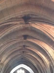 Arcos, nervios y plementería en la nave central. FOTO: J. M. G.