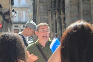 Otro momento en el frente norte de la catedral. FOTO: V. Escudero.