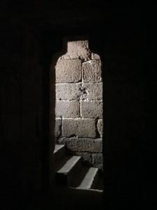 Escalera vista desde el habitáculo interior. FOTO: J.M.G.