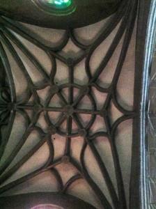 Bóveda de crucería en la capilla mayor. FOTO: J. M. G.