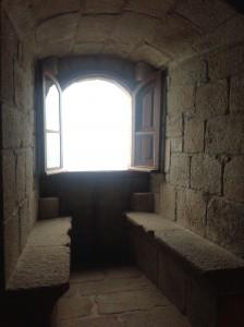 El parladoiro nos habla de una función más palaciega que militar en el castillo. FOTO: J. M. G.