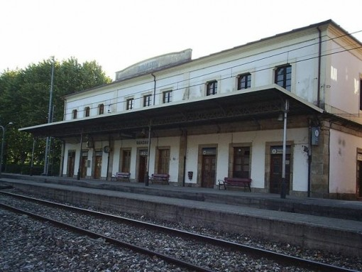 Estación de ferrocarril de Ribadavia, hoy. FOTO: PACO BOLUDA.