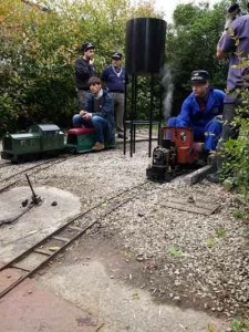 Otra escena ferroviaria en miniatura. FOTO: Carrileiros Foula