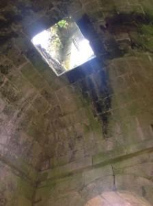Parte superior de la torre vista desde el interior del cuerpo de campanas. FOTO: J.M.G.