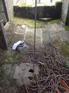 El suelo del campanario no es llano. FOTO: J.M.G.