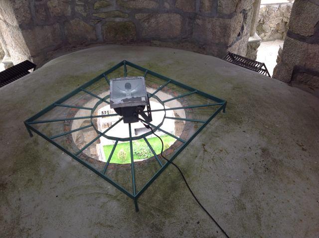 Extradós de la bóveda sobre el campanario. FOTO: J.M.G.
