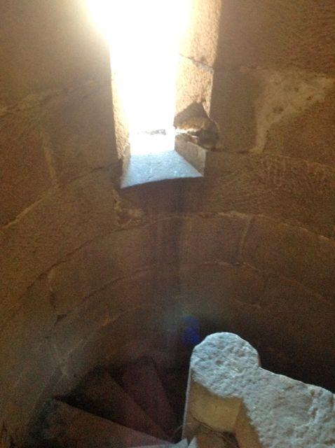 Final de la escalera de caracol. FOTO: J.M.G.