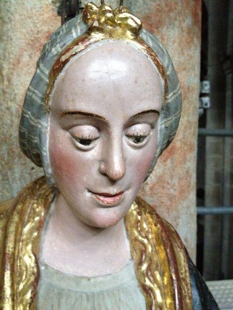 Detalle de la cabeza tocada al modo de Flandes. FOTO: J.M.G.