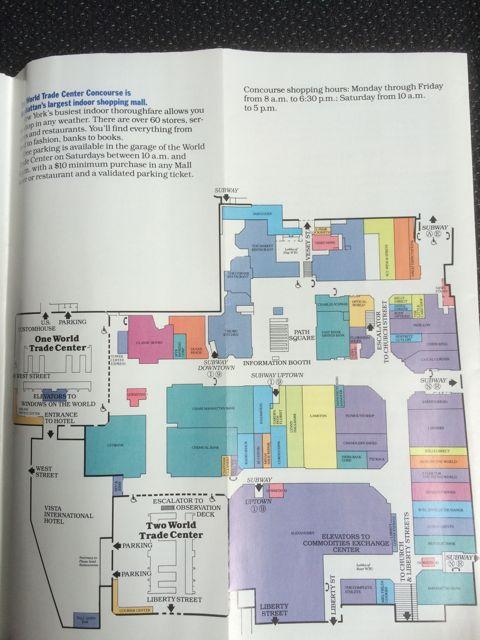 Plano del WTC con las dos torres incluidas, según el folleto. FOTO: J.M.G.