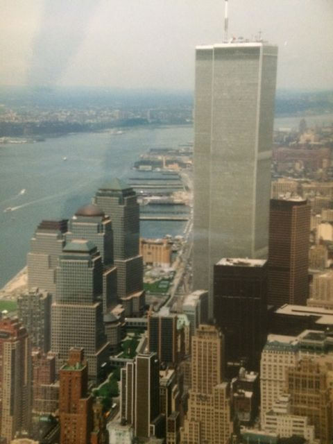 Vista de las dos torres del WTC desde el helicóptero. FOTO: J.M.G.