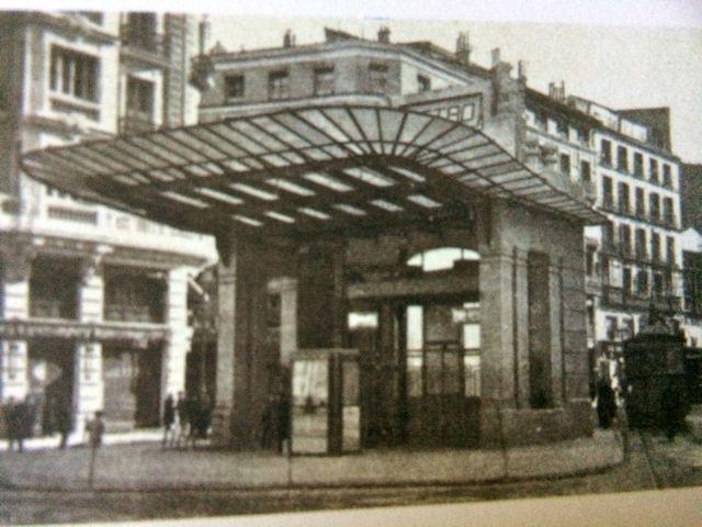 Fachada norte, de acceso a los elevadores en la Red de San Luis. FOTO: Archivo Metro de Madrid.