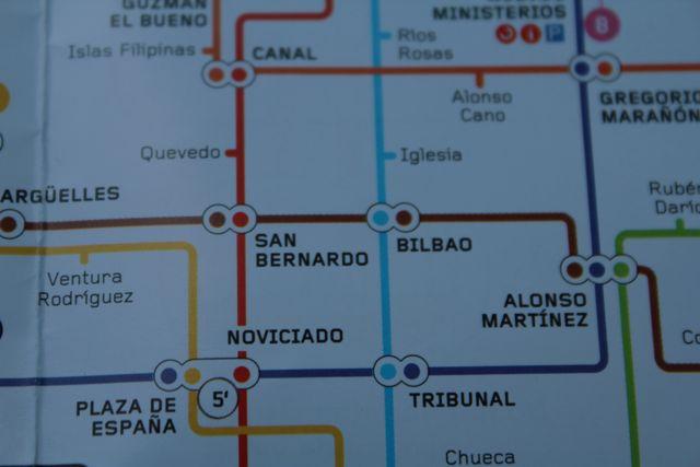 Detalle de un plano de la red de metro. FOTO: J.M.G.