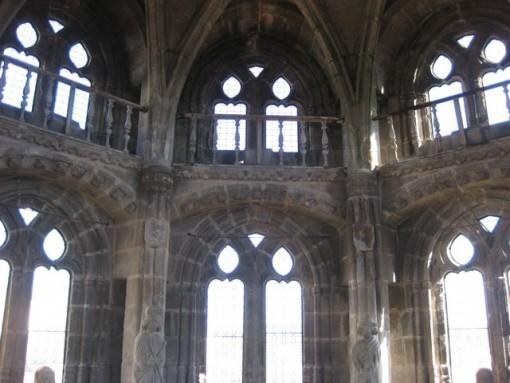 Vista de los dos niveles que presenta este elemento arquitectónico tan sobresaliente. FOTO: J.M.G.