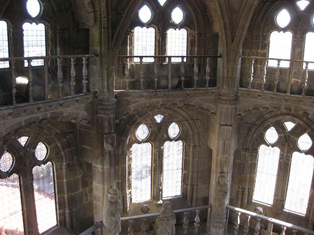 Otra imagen desde el nivel más elevado en el interior de este elemento arquitectónico. FOTO: J.M.G.