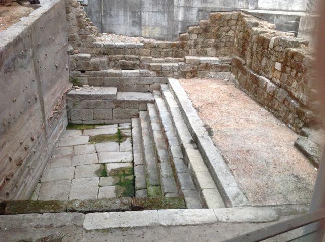 Detalle de la piscina termal del siglo I. FOTO: J.M.G.