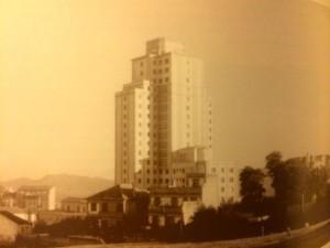 El hospital al poco de su inauguración en 1955. FOTO: Cedida.