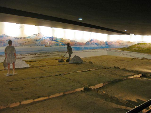 Aspecto da salina de Vigo musealizada. FOTO: J.M.G.