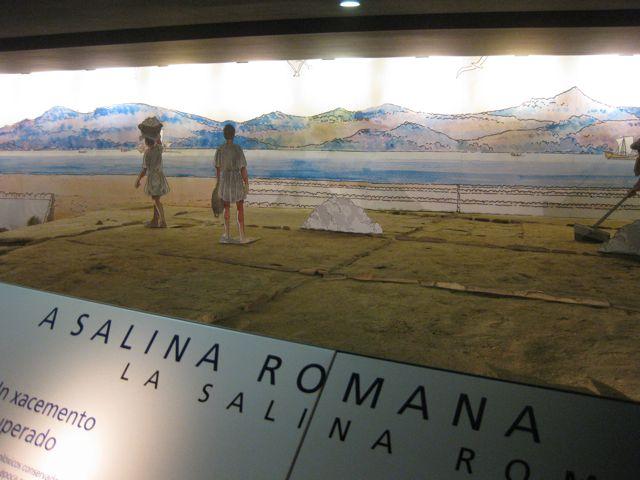 Outra perspectiva que amosa como se obtiña o sal xunto á Ría de Vigo. FOTO: J.M.G.