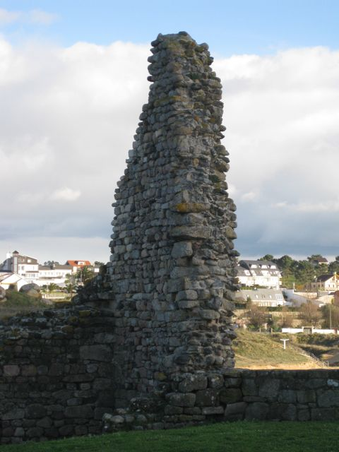 Restos da fortaleza de Don Sisnando. FOTO: J.M.G.
