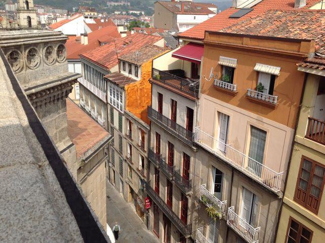 Vista de la calle Juan de Austria desde lo alto de la capilla de San Juan. FOTO: J.M.G.