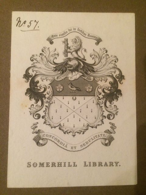 Ex libris de la Somerhill Library. FOTO: J.M.G.