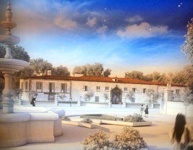 Otra reconstrucción permite ver el edificio del hospital que hubo donde hoy está Correos. FOTO: J.M.G.