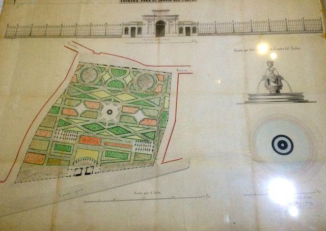 Plano del jardín do Posío. FOTO: J.M.G.