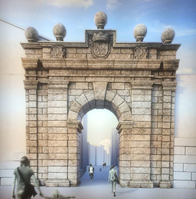 Reconstrucción virtual de la Porta da Aira. FOTO: J.M.G.