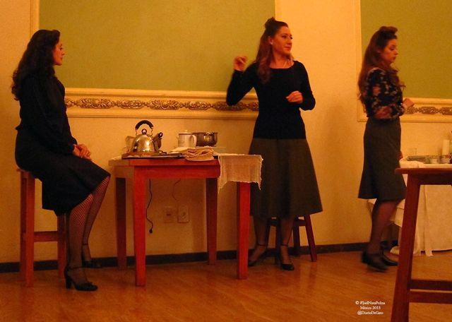 Un momento de la representación en el Centro Gallego del DF. FOTO: Joel Nava Polina.