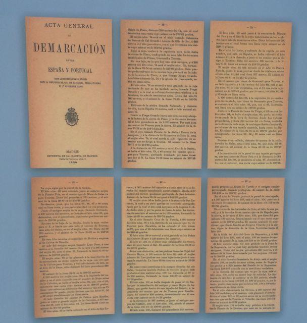 Acta General de Demarcación entre España y Portugal de 1906. FOTO: J.M.G.