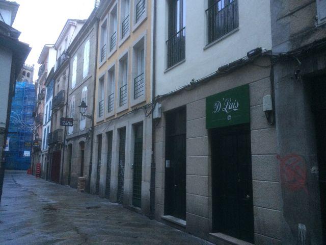 Este espacio se llamaba Rúa da Obra, hoy Lepanto. FOTO: J.M.G.