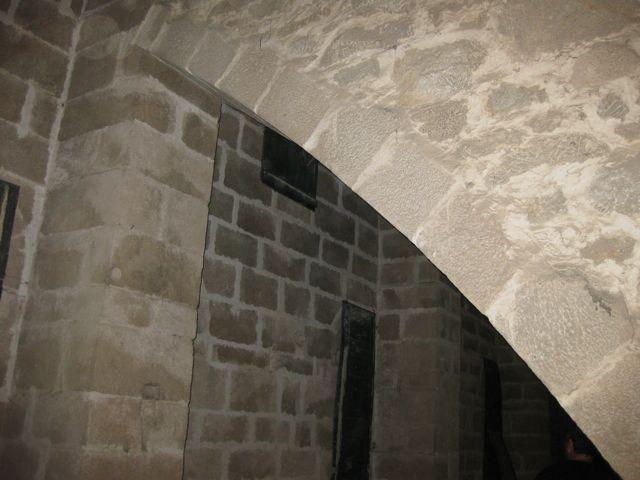 Interior de la tribuna sobre la nave lateral sur del cuerpo mayor del templo. FOTO: J.M.G.