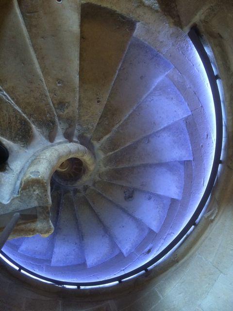 Otra perspectiva del caracol de piedra caliza. FOTO: J.M.G.