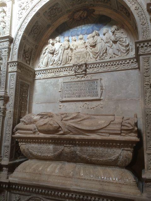 Mausoleo de Fernando de Arce, obispo de Canarias y hermano de Martín. FOTO: J.M.G.