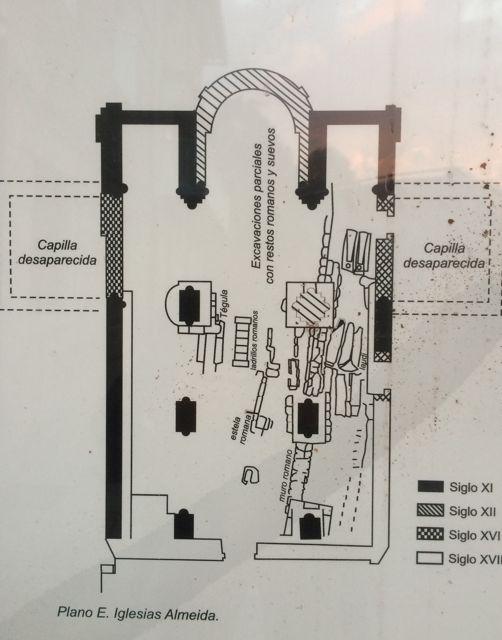 Planta del templo, según Iglesias Almeida.