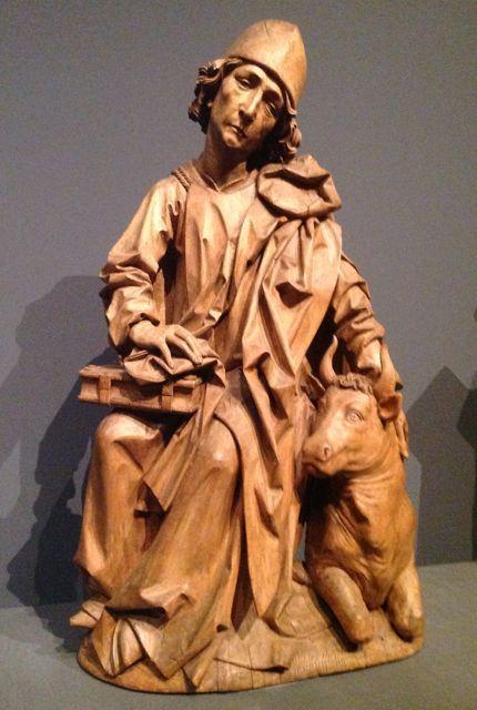 San Lucas, acompañado del toro, que lo simboliza.